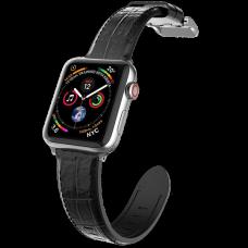 Ремешок X-Doria Hybrid Leather для Apple watch 38/40 мм Чёрный крокодил