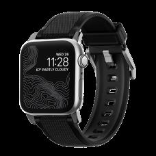 Ремешок силиконовый Nomad Rugged для Apple Watch 42/44 мм Серебряная застежка