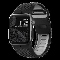 Ремешок силиконовый Nomad Sport для Apple Watch 42/44 мм Black and Slate