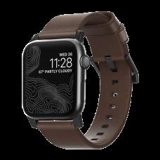 Ремешок кожаный Nomad Modern для Apple Watch 42/44 мм Коричневый с чёрной фурнитурой