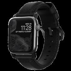 Ремешок Nomad Traditional для Apple Watch 42/44 мм Чёрный с черной фурнитурой