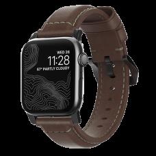 Ремешок Nomad Traditional для Apple Watch 38/40 мм Rustic Brown с черной фурнитурой