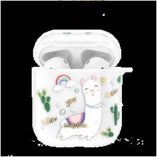 Чехол Kingxbar Adorkable для Apple Airpods Rainbow Alpaca