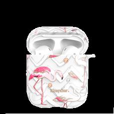 Чехол Kingxbar Flamingo для Apple Airpods Feather