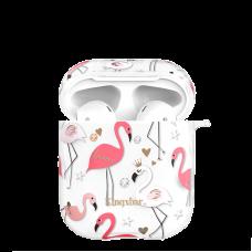 Чехол Kingxbar Flamingo для Apple Airpods Crown