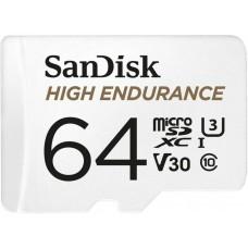 Карта памяти 64GB SanDisk High Endurance Class 10 + SD адаптер (SDSQQNR-064G-GN6IA)