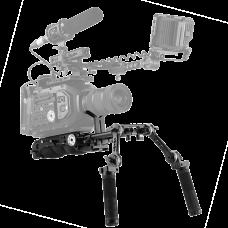 Плечевой упор с двуручным хватом SmallRig Professional Universal Shoulder Pad Kit KGW102
