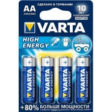 Элемент питания VARTA LR6/AA LongLife POWER (High Energy) BL4 (4906113414)