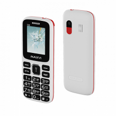 Телефон Maxvi C26 White/Red