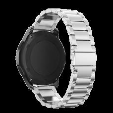 Браслет стальной для Samsung Gear S3/Samsung Galaxy Watch 46 Серебро
