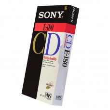 Видеокассета VHS Sony E-180 CD