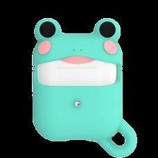 Чехол Kingxbar Adorkable для Apple Airpods Лягушка