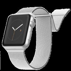 Ремешок X-Doria New Mesh для Apple Watch 42/44 мм Серебро