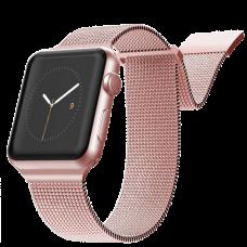 Ремешок X-Doria New Mesh для Apple Watch 38/40 мм Розовое золото