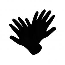 Перчатки для фотографа Fuji GL5 (M) 23 см черные (12 шт)
