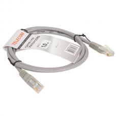 Патч-корд Telecom UTP 5E 1m литой серый (NA102--1M_315679)