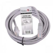 Патч-корд Telecom UTP 5E 1.5m литой серый (NA102--1.5M_317444)