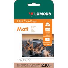 Бумага Lomond матовая односторонняя A6 230 г/м2 50л (0102034)