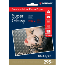 Фотобумага Lomond Super Glossy Warm Premium A6 295 г/м2 20л (1108103)