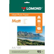 Фотобумага Lomond матовая односторонняя A4 95 г/м2 100л (0102125)