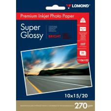 Фотобумага Lomond Super Glossy односторонняя A6 270 г/м2 20л (1106102)