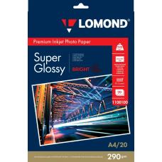 Фотобумага Lomond глянцевая односторонняя A4 290 г/м2 20л (1108100)