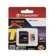Флеш карта 32GB Transcend microSDHC Class 10 (SD адаптер) (TS32GUSDHC10)