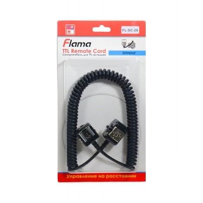 Cинхрокабель Flama FL-SC-28 для управления TTL вспышками для Nikon