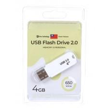 Флеш-накопитель USB 4GB Exployd 650 белый (EX-4GB-650-White)