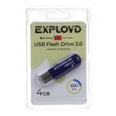 Флеш-накопитель USB 4GB Exployd 650 синий (EX-4GB-650-Blue)