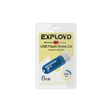 Флеш-накопитель Exployd 650 синий (EX-8GB-650-Blue)