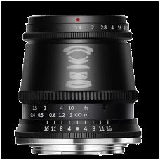 Объектив TTArtisan 17mm F1.4 EF-M Чёрный
