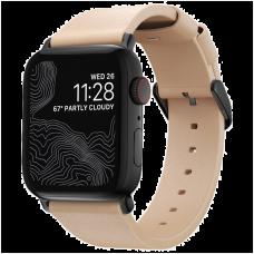 Ремешок Nomad Modern Slim для Apple Watch 38/40mm Бежевый с черной фурнитурой