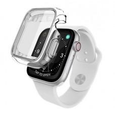 Чехол X-Doria Defense 360x для Apple Watch 44 мм Прозрачный