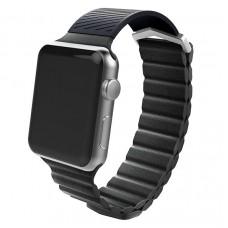 Ремешок X-Doria Hybrid Leather для Apple Watch 42/44 mm Чёрный