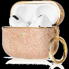 Чехол Kingxbar Bling для Apple AirPods Pro Розовое Золото