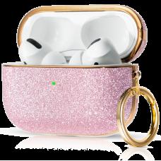 Чехол Kingxbar Bling для Apple AirPods Pro Розовый
