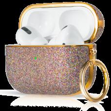 Чехол Kingxbar Bling для Apple AirPods Pro Фиолетовый