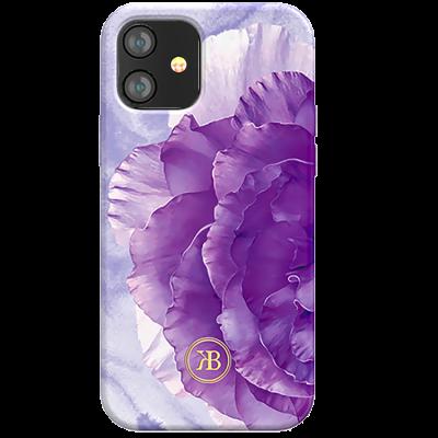 Чехол Kingxbar Peony для iPhone 12 Mini Фиолетовый