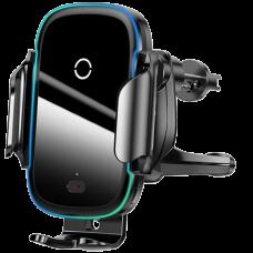 Автодержатель с беспроводной зарядкой Baseus Light Electric Holder Wireless Charger (15W) Чёрный